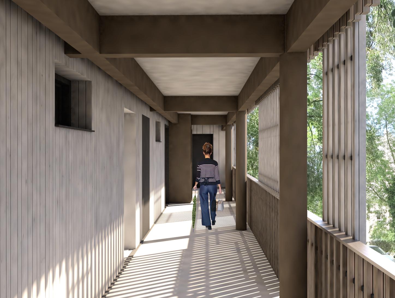 27-BALCONNIÈRES-08-Bât Nord - Coursive étage